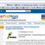 Keyword Optimization