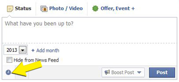 Facebook Status Box