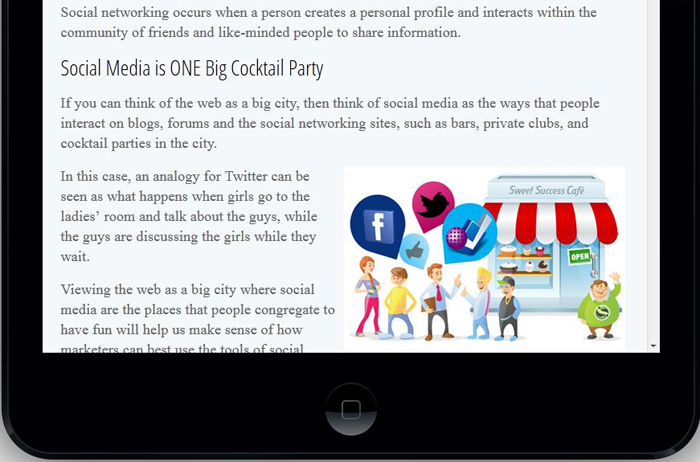 Apple iPad Mobile Tablet with a Website that is Mobile Ready