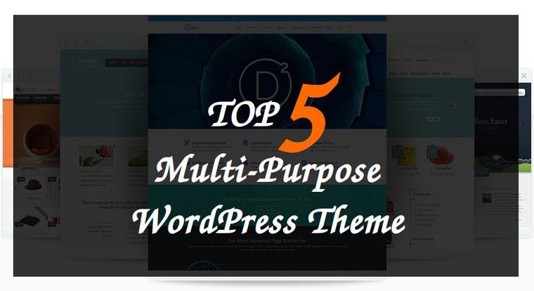 Top 5 Most Popular Multipurpose WordPress Themes!