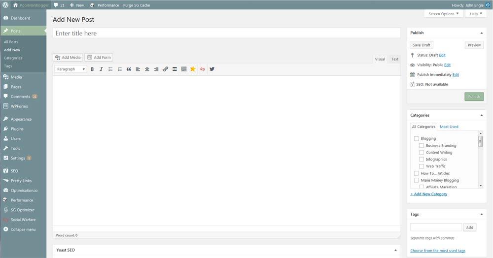 WordPress Edit Post Box