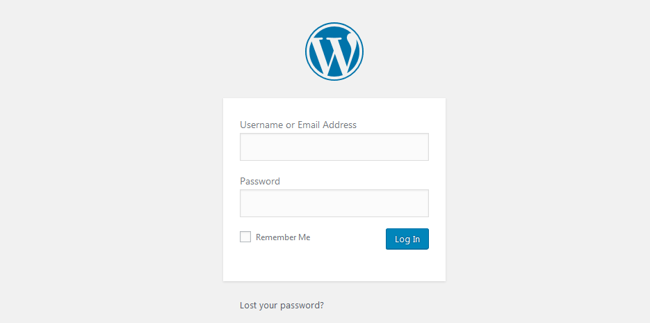WordPress wp-admin Login Page