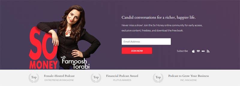 So Money Podcast with Female Entrepreneur Farnoosh Torabi