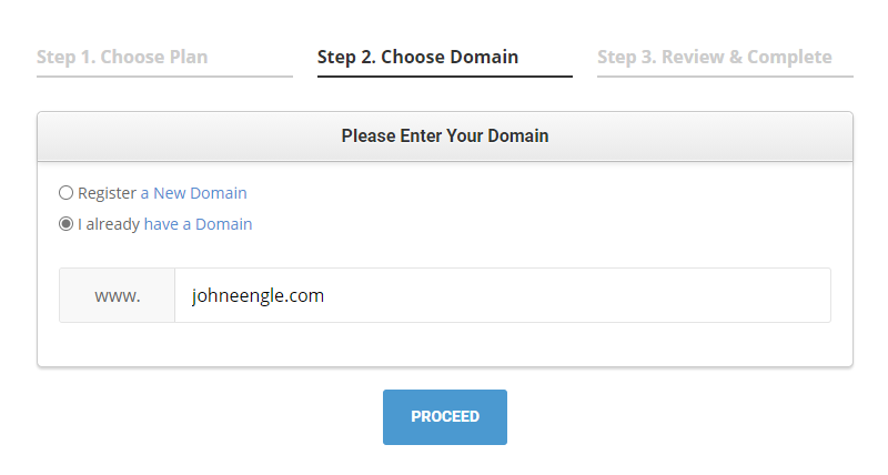 Choose Your Domain Name - SiteGround