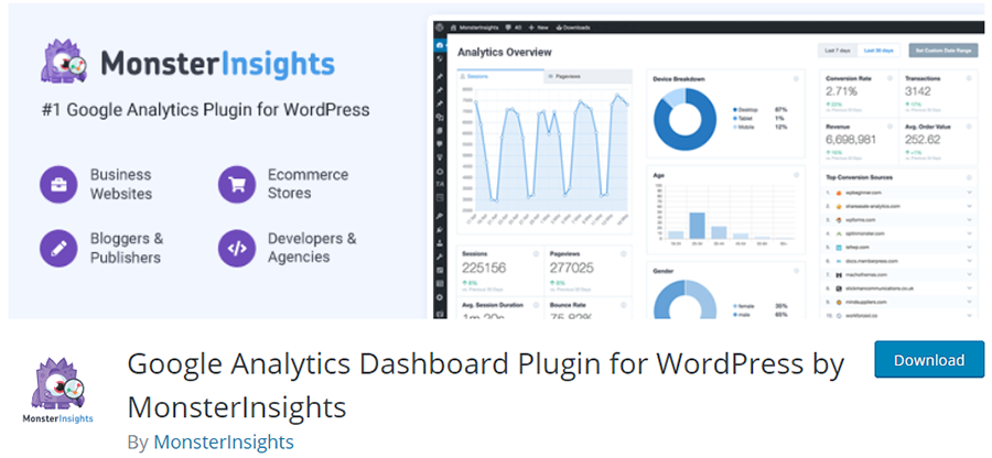 MonsterInsights - Google Analytics Dashboard Plugin for WordPress