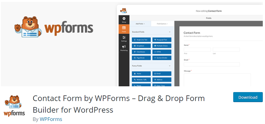 WPForms - Drag and Drop Form Builder for WordPress