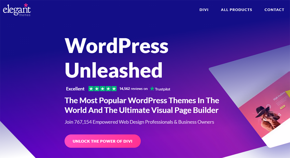 WordPress Divi Theme by ElegantThemes - Join 767,154 Empowered Web Design Professional & Business Owners