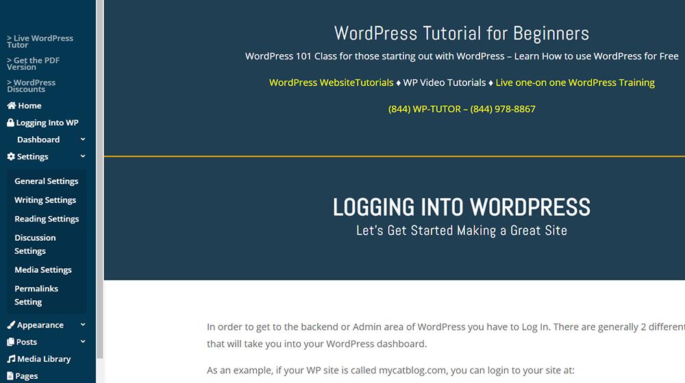For Additional WordPress Dashboard Help - Visit this amazing WordPress Tutorial